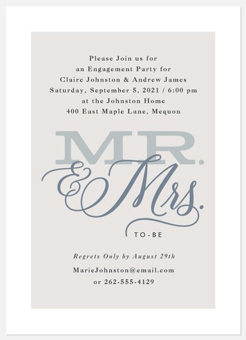 Soon to Be Engagement Party Invitations