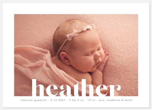 Cutout Baby Birth Announcements