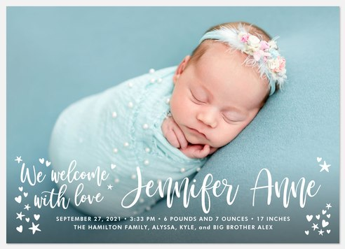 Welcome Whimsy Baby Birth Announcements