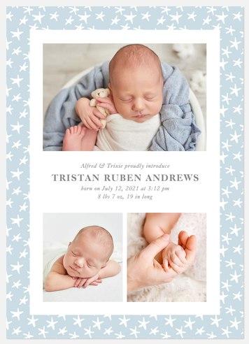 Little Stars Baby Birth Announcements