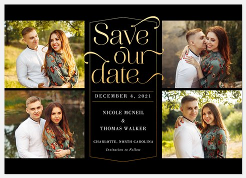 Sophistication Save the Date Photo Cards