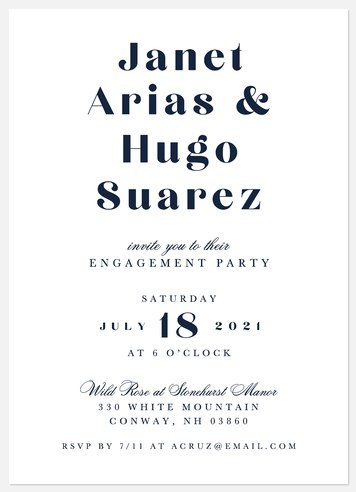 Sophisticated Engagement Party Invitations