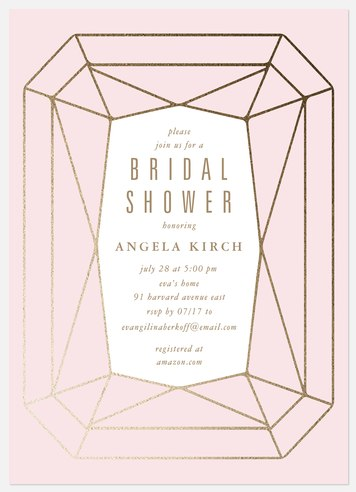 Diamond Bridal Shower Invitations