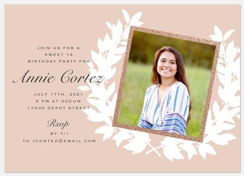 Boho Laurel Teen Birthday Invitations