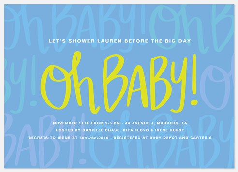 Sunshine Shower Baby Shower Invitations