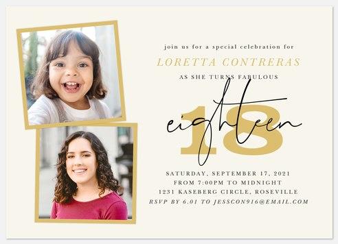 Big Milestone Adult Birthday Invitations
