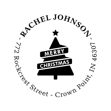A Merry Message | Custom Rubber Stamps