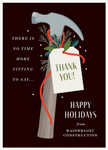 Festive Hammer Business Holiday Cards