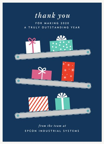 Assembly Line Business Holiday Cards