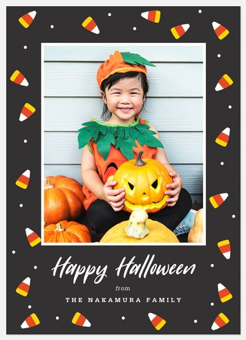 Candy Corn Frame Halloween Photo Cards