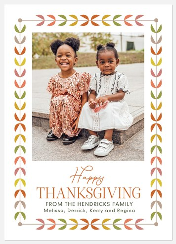 Hygge Leaves Thanksgiving Cards