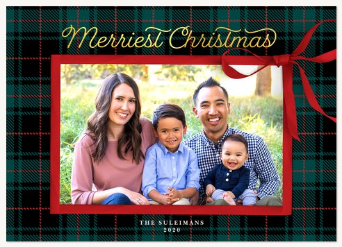 Traditional Present Photo Holiday Cards
