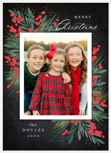 Festive Berries Holiday Photo Cards