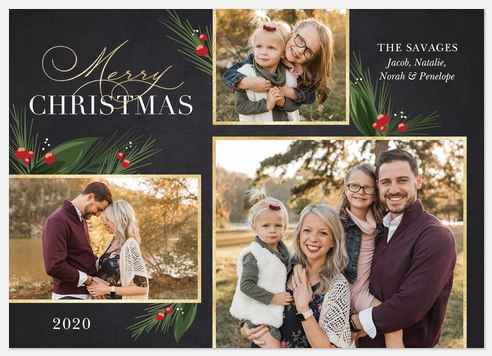 Glistening Pines Holiday Photo Cards