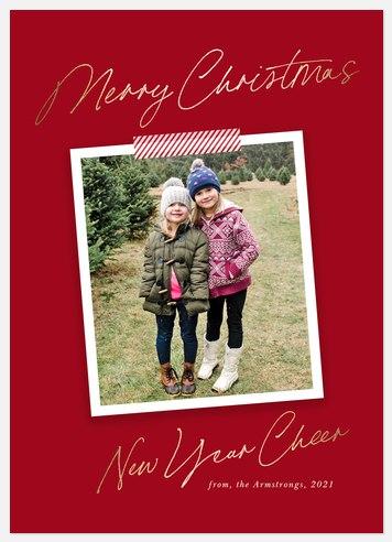 Festive Snapshot Holiday Photo Cards