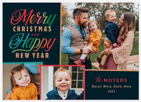 Festive Trio Holiday Photo Cards