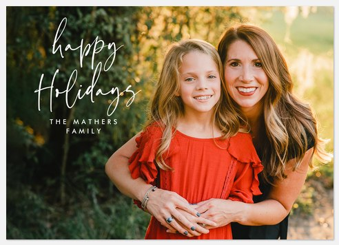 Jubilee Script Holiday Photo Cards