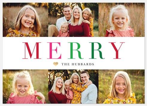Colorful Merry Holiday Photo Cards