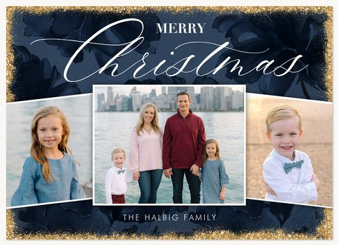 Winter Opulence Photo Holiday Cards