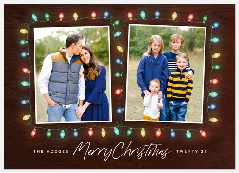 Bright Light Duo Holiday Photo Cards