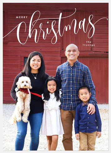 Tip Top Script Holiday Photo Cards