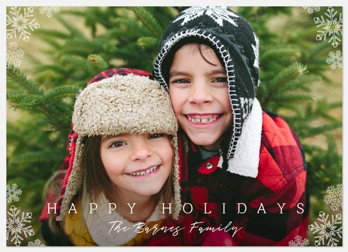 Snow Surround Holiday Photo Cards