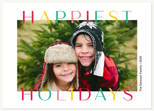 Candy Colored Personalized Holiday Cards