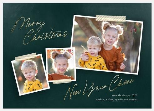 Golden Washi Holiday Photo Cards