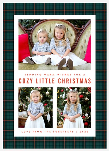 Cozy Christmas Holiday Photo Cards