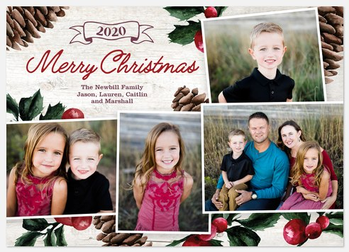 Classic Potpourri Holiday Photo Cards