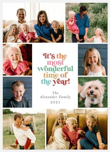 Retro Wonder Holiday Photo Cards
