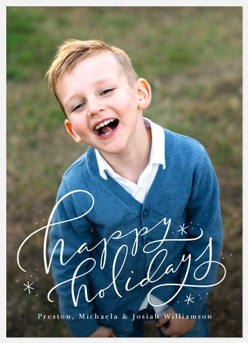 Winter Wisps Holiday Photo Cards