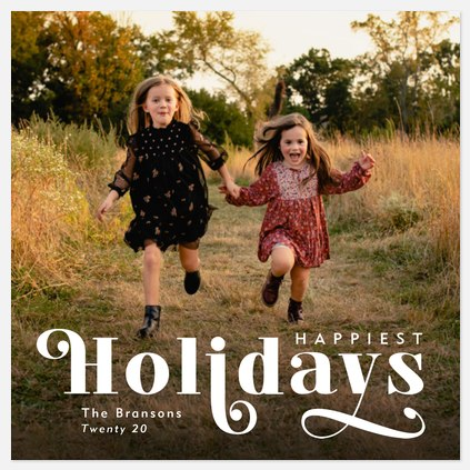 Retro Flair Holiday Photo Cards