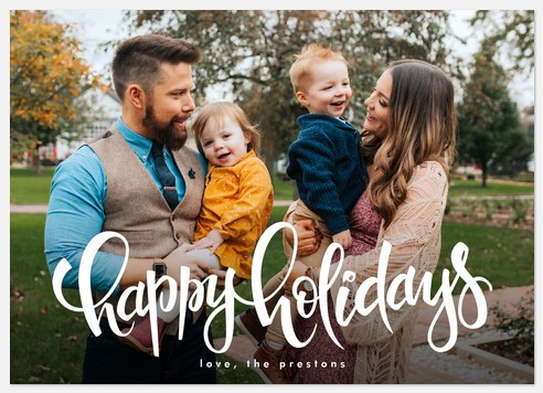 Frosting Script Holiday Photo Cards