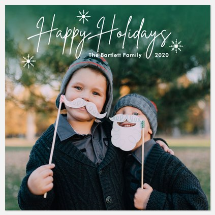 Emerald Sparkle Holiday Photo Cards