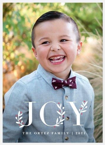 Botanical Joy Holiday Photo Cards