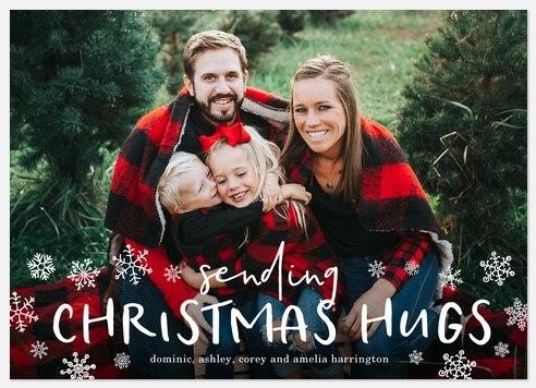 Christmas Hugs Holiday Photo Cards