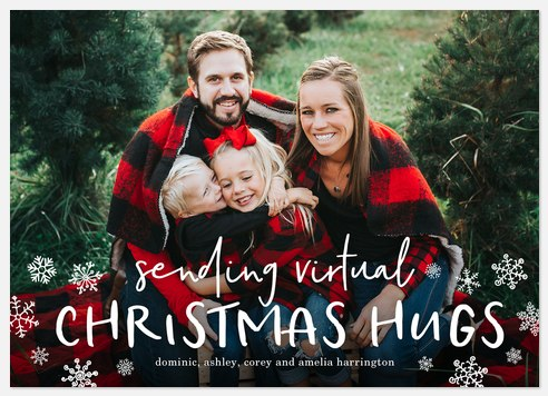 Virtual Hugs Holiday Photo Cards