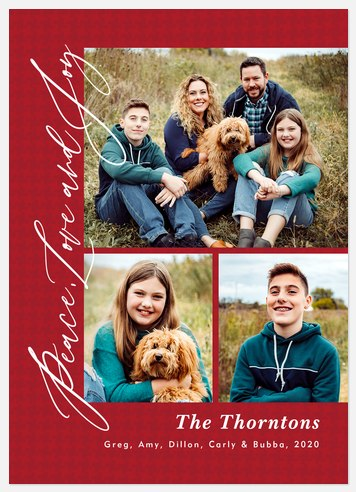 Houndstooth Holiday Holiday Photo Cards