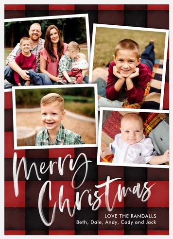 Coziest Plaid Holiday Photo Cards