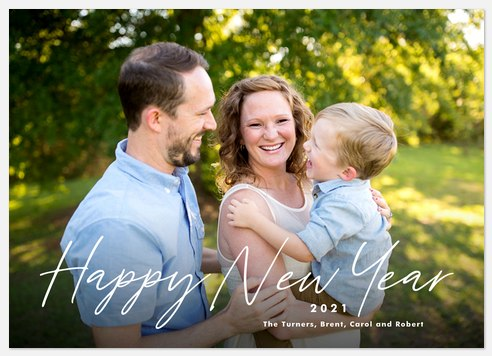 Handwritten Greetings Holiday Photo Cards