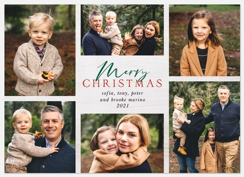 Aspen Grid Holiday Photo Cards