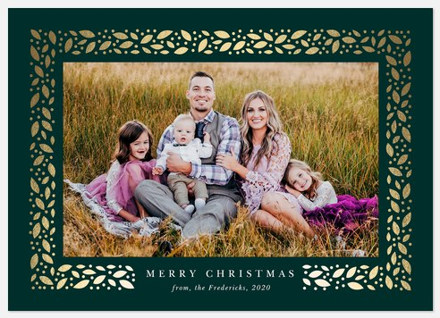Glistening Garland Holiday Photo Cards
