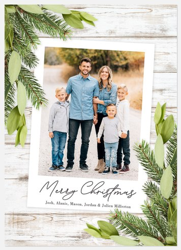Botanical Trimmings Holiday Photo Cards