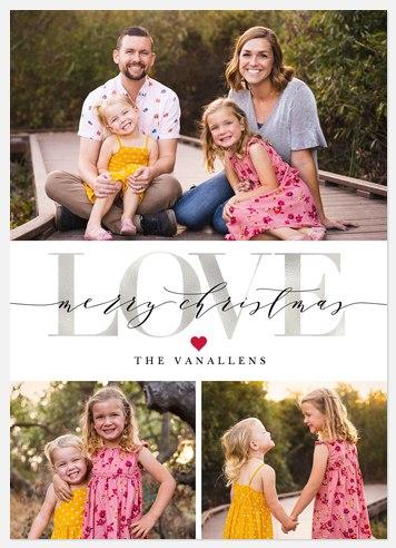 Big Love Holiday Photo Cards
