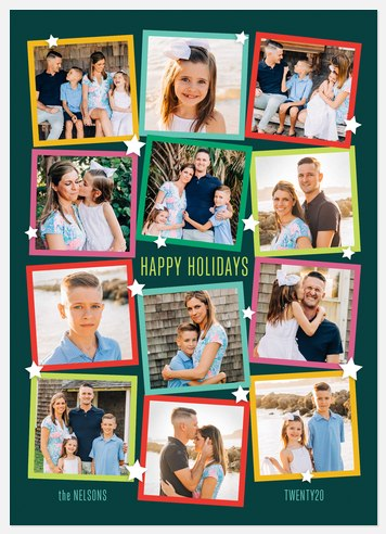 Colorful Snapshots Holiday Photo Cards