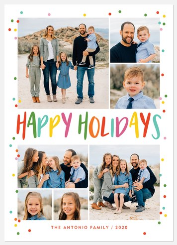 Colorful Magic Holiday Photo Cards