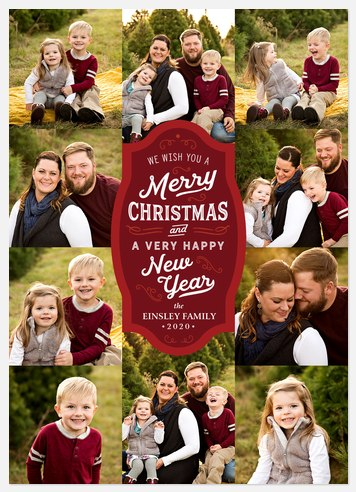 Christmases Past Holiday Photo Cards