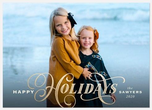Festive Revelry Holiday Photo Cards