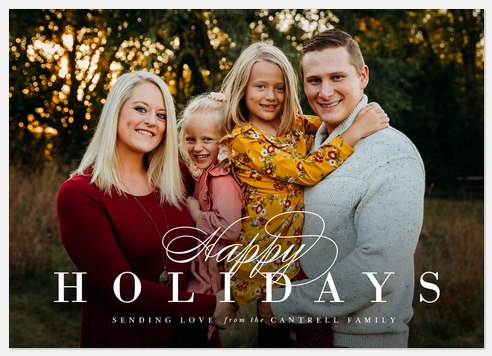Elegant Wishes Holiday Photo Cards